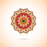 Mandala colorida decorativa Teste padrão geométrico à moda em oriente Fotos de Stock Royalty Free