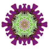 Mandala colorida del cordón redondo indio decorativo Imagen de archivo