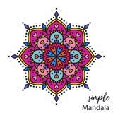 Mandala colorida del vector Fotos de archivo libres de regalías