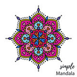 Mandala colorida do vetor Fotos de Stock Royalty Free