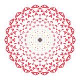 Mandala colorida en el fondo blanco Fotografía de archivo