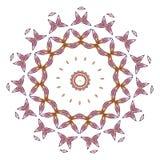 Mandala colorida en el fondo blanco Foto de archivo