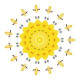 Mandala colorida en el fondo blanco Fotografía de archivo libre de regalías