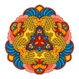 Mandala colorida en el fondo blanco Imágenes de archivo libres de regalías