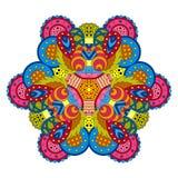 Mandala colorida en el fondo blanco Imagenes de archivo