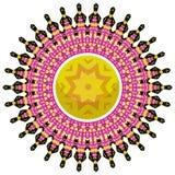 Mandala colorida en el fondo blanco Imagen de archivo libre de regalías