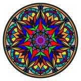 Mandala colorida en un fondo blanco Foto de archivo