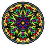 Mandala colorida en un fondo blanco Fotografía de archivo