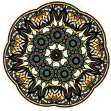 Mandala colorida en un fondo blanco Foto de archivo libre de regalías