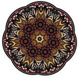 Mandala colorida en un fondo blanco Fotografía de archivo libre de regalías