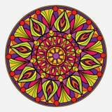 Mandala colorida en un fondo blanco Fotos de archivo