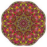 Mandala colorida en un fondo blanco Imagenes de archivo