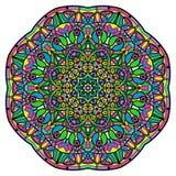 Mandala colorida en un fondo blanco Imágenes de archivo libres de regalías