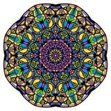 Mandala colorida en un fondo blanco Imagen de archivo libre de regalías