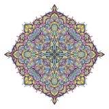 Mandala colorida floral ilustração stock