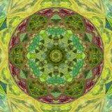 Mandala colorida hermosa del contorno de Deco, elemento modelado del diseño, amuleto étnico libre illustration
