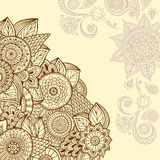 Mandala colorida Ornamento redondos decorativos Fotos de Stock Royalty Free