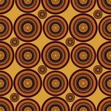 Mandala colorida sumário do vetor no estilo africano Teste padrão sem emenda ilustração do vetor
