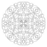 Mandala for coloring Royalty Free Stock Photo