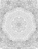 Mandala Coloring Book Page Imágenes de archivo libres de regalías