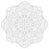Mandala for coloring book page for kids and adults. Patterned Design Element. Zentangle style Royalty Free Stock Photography