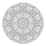 Mandala for coloring book. Page for kids and adults. Patterned Design Element. Zentangle style Royalty Free Stock Photography