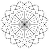 Mandala coloring book Stock Photography
