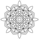 Mandala coloring book Royalty Free Stock Photos
