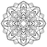 Mandala for coloring book. Royalty Free Stock Photo