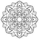 Mandala for coloring book. Royalty Free Stock Photo