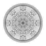 Mandala. For coloring books, and for background Royalty Free Stock Photo
