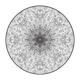 Mandala. For coloring books, and for background Royalty Free Stock Photos