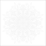 Mandala Coloring Illustration 1 Photos stock