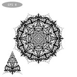 Mandala Coloring Illustration 1 Photo stock