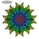 Mandala Coloring Illustration 3 Photos stock