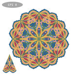 Mandala Coloring Illustration 5 Photo stock
