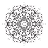 Mandala Coloring Illustration Photographie stock libre de droits