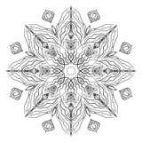 Mandala Coloring Illustration 1 Photos libres de droits