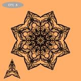 Mandala Coloring Illustration pour Photos libres de droits