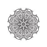 Mandala Coloring Illustration pour Photographie stock libre de droits