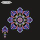 Mandala Coloring Illustration 1 violette Photographie stock libre de droits