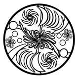 Mandala for coloring, meditative, expression in creativity royalty free illustration