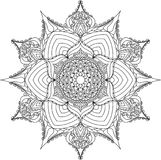 Outline mandala for coloring book. royalty free illustration