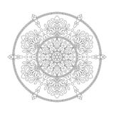 Mandala Coloring Page Flower Design Element for Adult Color Book royalty free illustration