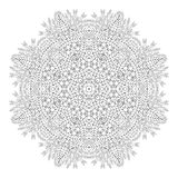 Mandala. Coloring page. Monochrome oriental pattern. Mandala. Coloring page. Ethnicity floral round ornament. Circular ornament in ethnic style. Floral elements Stock Photo