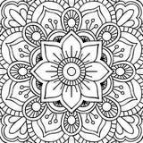 Mandala. Coloring page Stock Photo