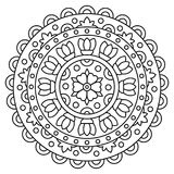 Mandala. Coloring page. Vector illustration. Mandala. Coloring page. Black and white vector illustration stock illustration