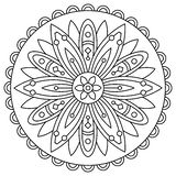 Mandala. Coloring page. Vector illustration. Mandala. Coloring page. Black and white vector illustration Stock Photography