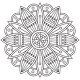 Mandala. Coloring page. Vector illustration. Mandala. Coloring page. Black and white vector illustration Royalty Free Stock Images