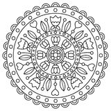 Mandala. Coloring page. Vector illustration. Royalty Free Stock Photography
